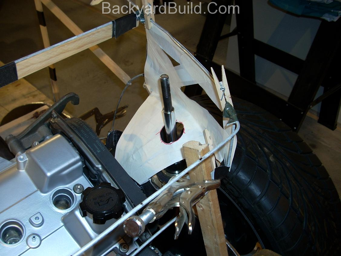 Reinstall rear basket and create strut location panels 10