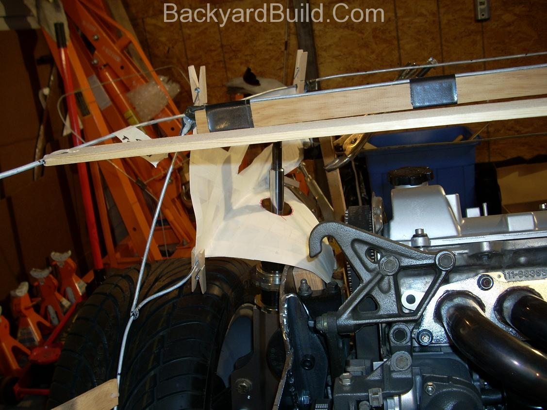 Reinstall rear basket and create strut location panels 9