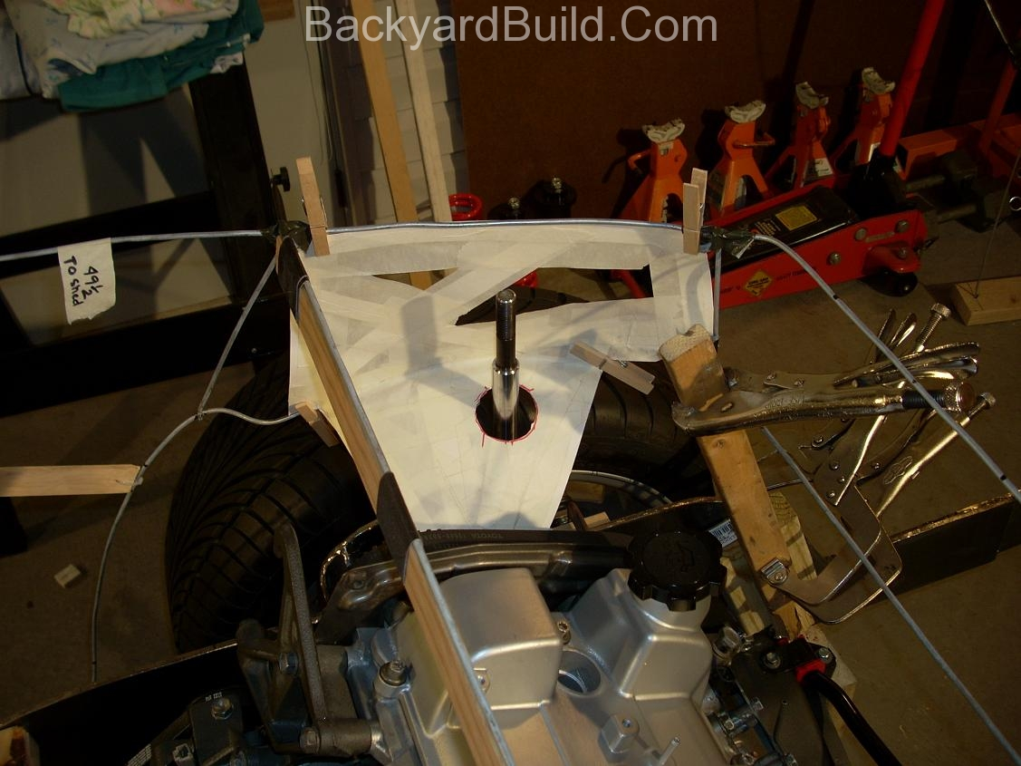 Reinstall rear basket and create strut location panels 8