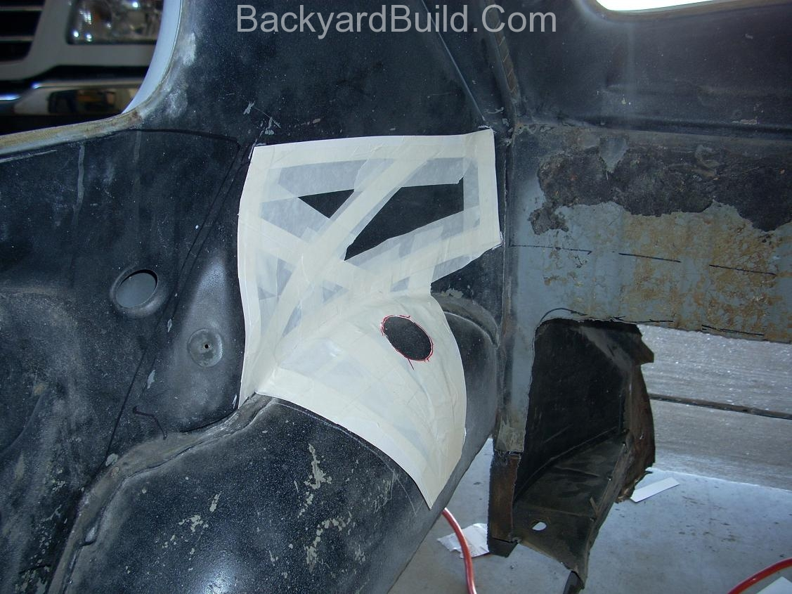 Reinstall rear basket and create strut location panels 6