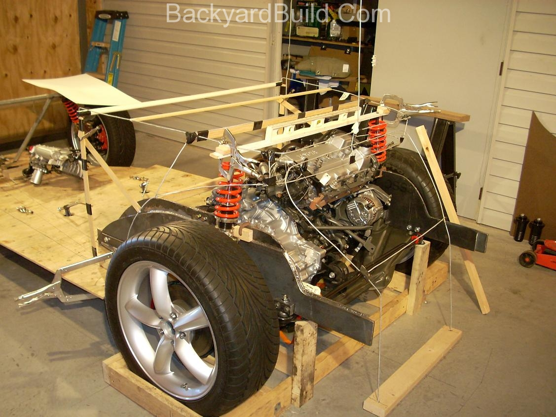 Reinstall rear basket and create strut location panels 2