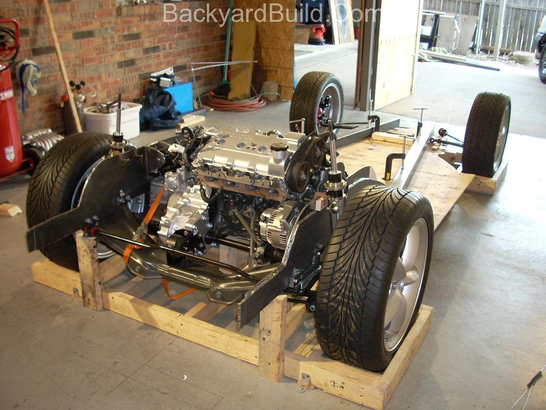 Fit VW bug body over 3SGTE engine and frame 28