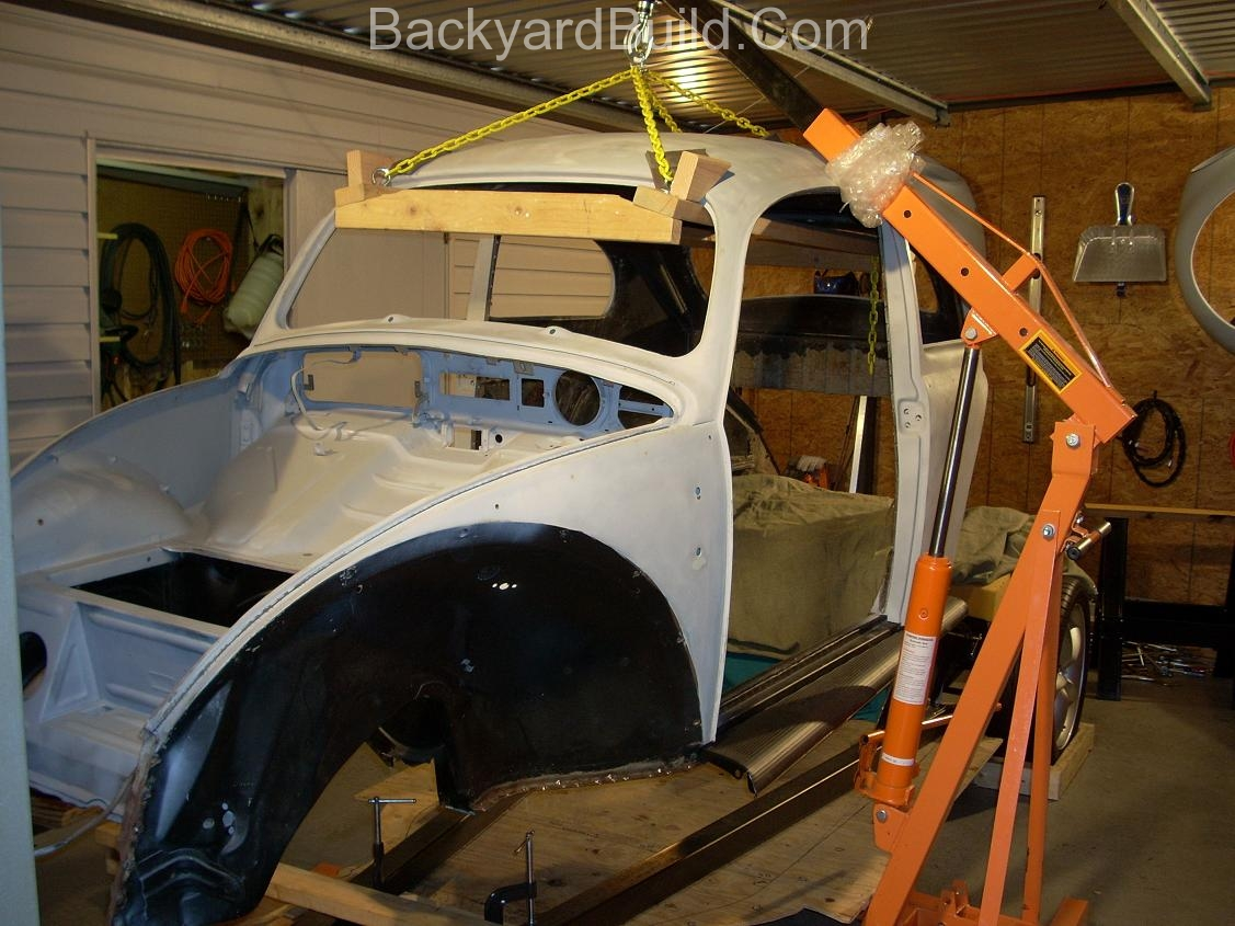 Fit VW bug body over 3SGTE engine and frame 26