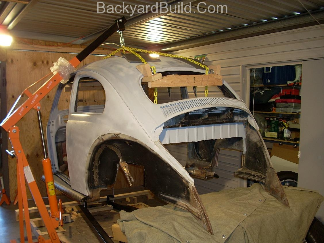 Fit VW bug body over 3SGTE engine and frame 25