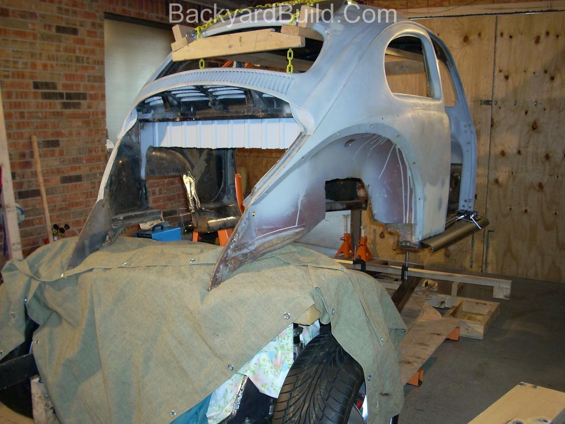 Fit VW bug body over 3SGTE engine and frame 24