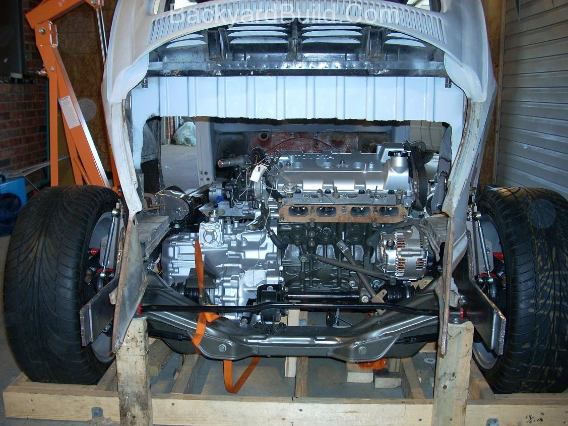 Fit VW bug body over 3SGTE engine and frame 20