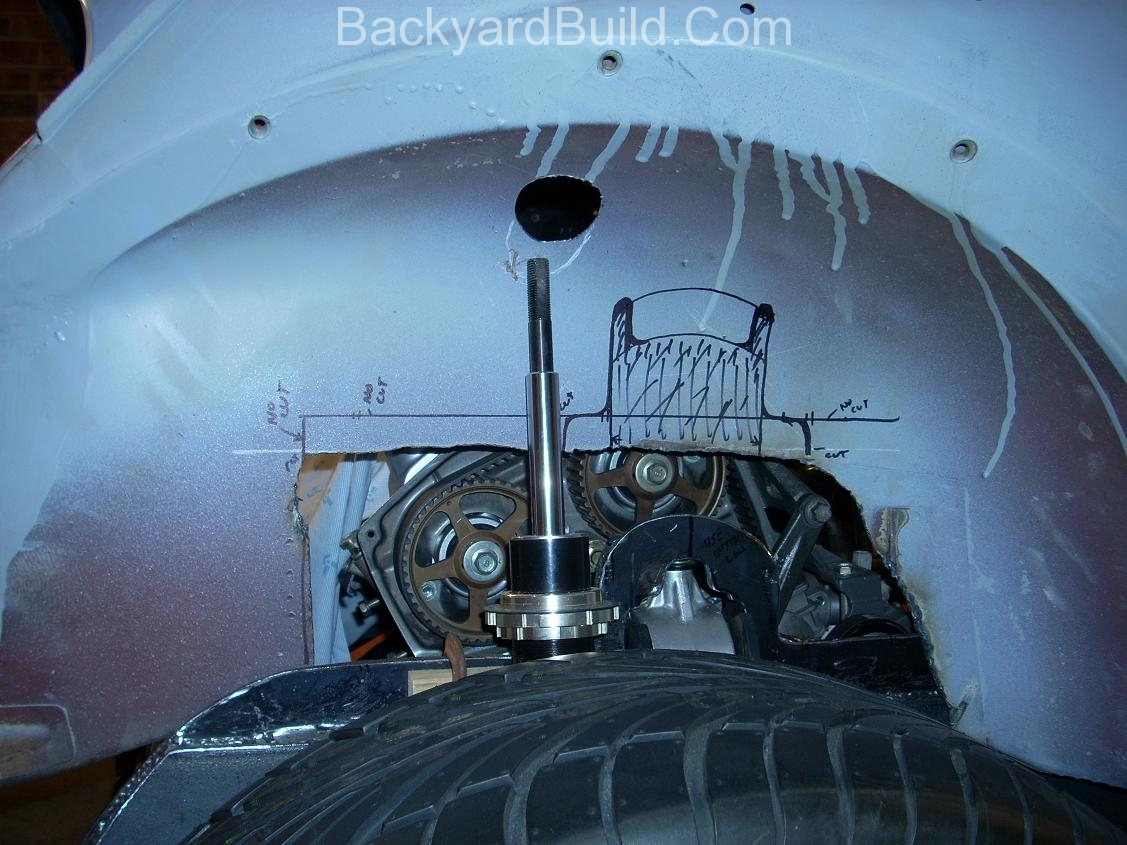 Fit VW bug body over 3SGTE engine and frame 16
