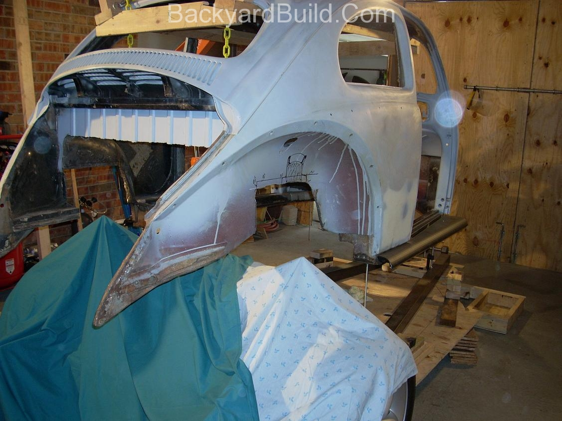 Fit VW bug body over 3SGTE engine and frame 14