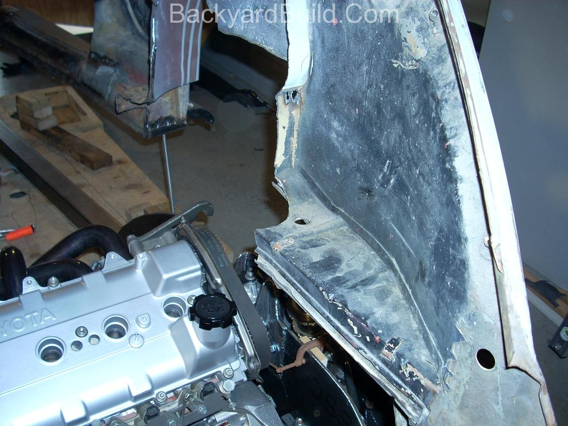 Fit VW bug body over 3SGTE engine and frame 12