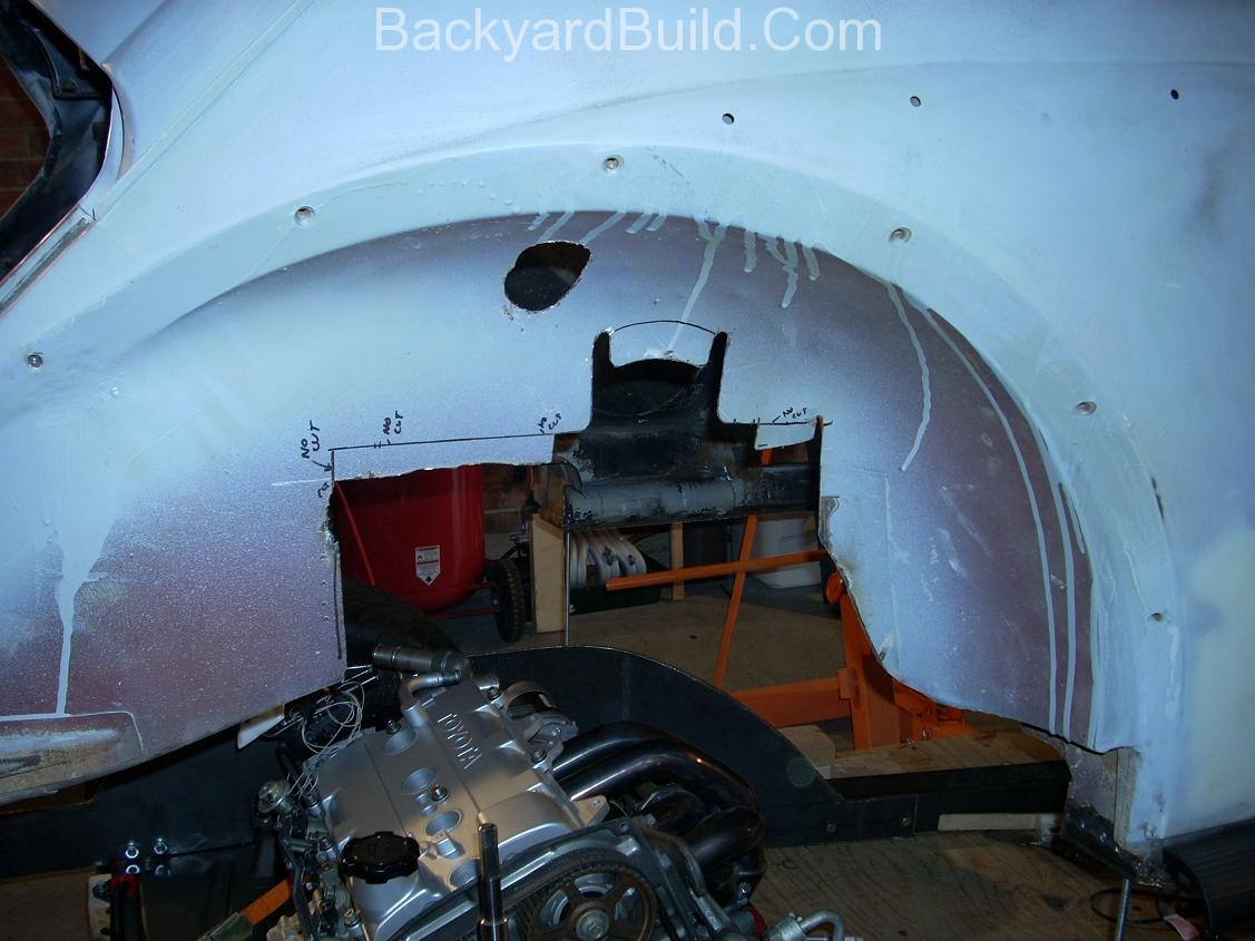 Fit VW bug body over 3SGTE engine and frame 11