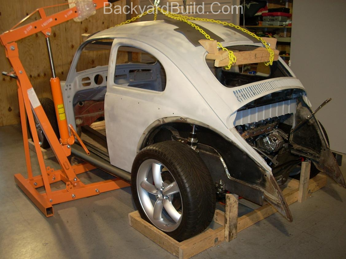 Fit VW bug body over 3SGTE engine and frame 7