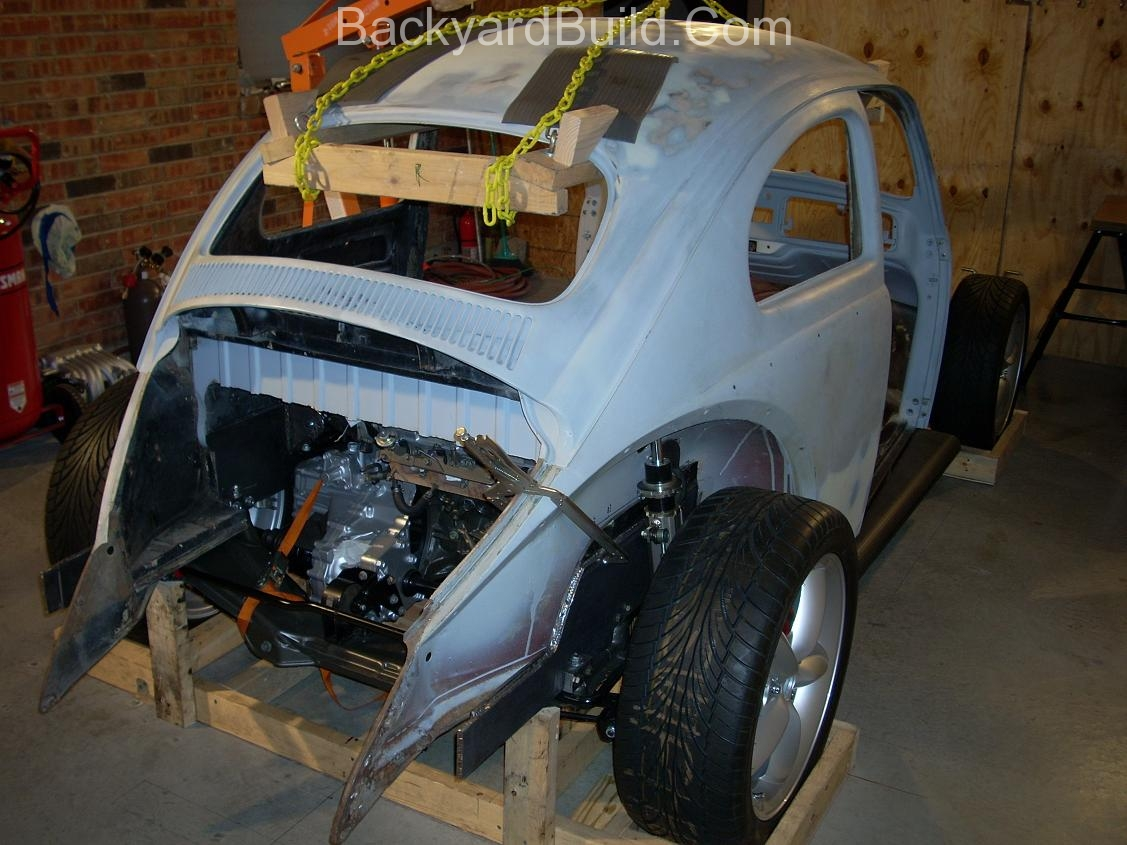Fit VW bug body over 3SGTE engine and frame 6