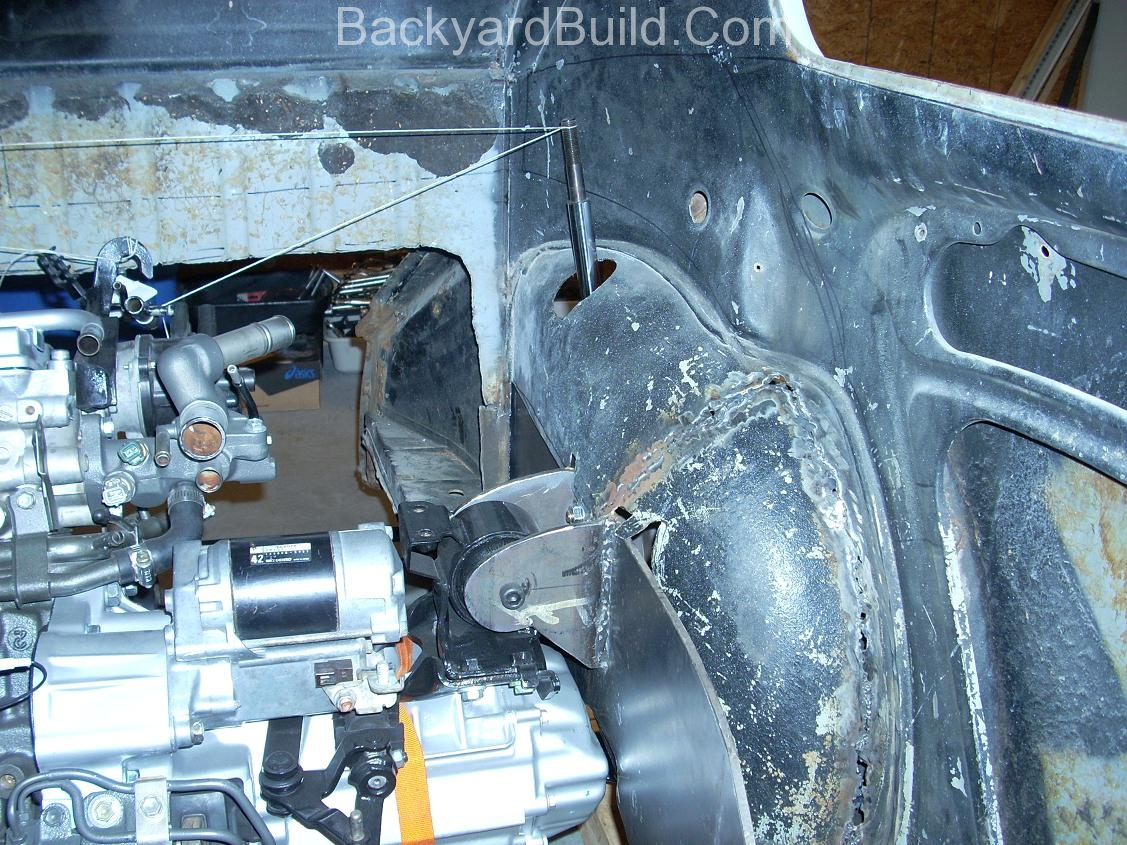 Fit VW bug body over 3SGTE engine and frame 4