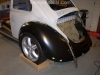 2nd complete fitting of the VW bug sheetmetal over the Toyota MR2 3SGTE motor and custom frame 18