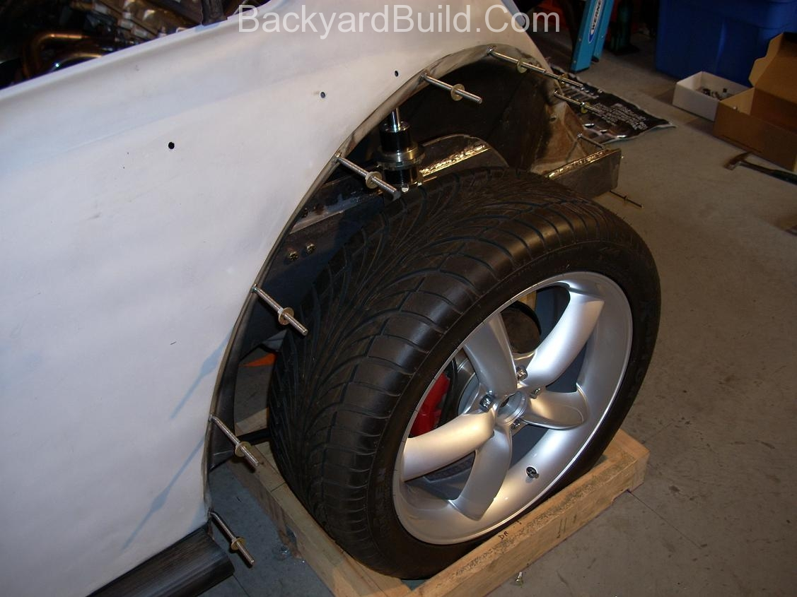 2nd complete fitting of the VW bug sheetmetal over the Toyota MR2 3SGTE motor and custom frame 22