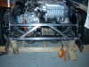 Build VW bug MR2 3SGTE rear engine cage bracing 9