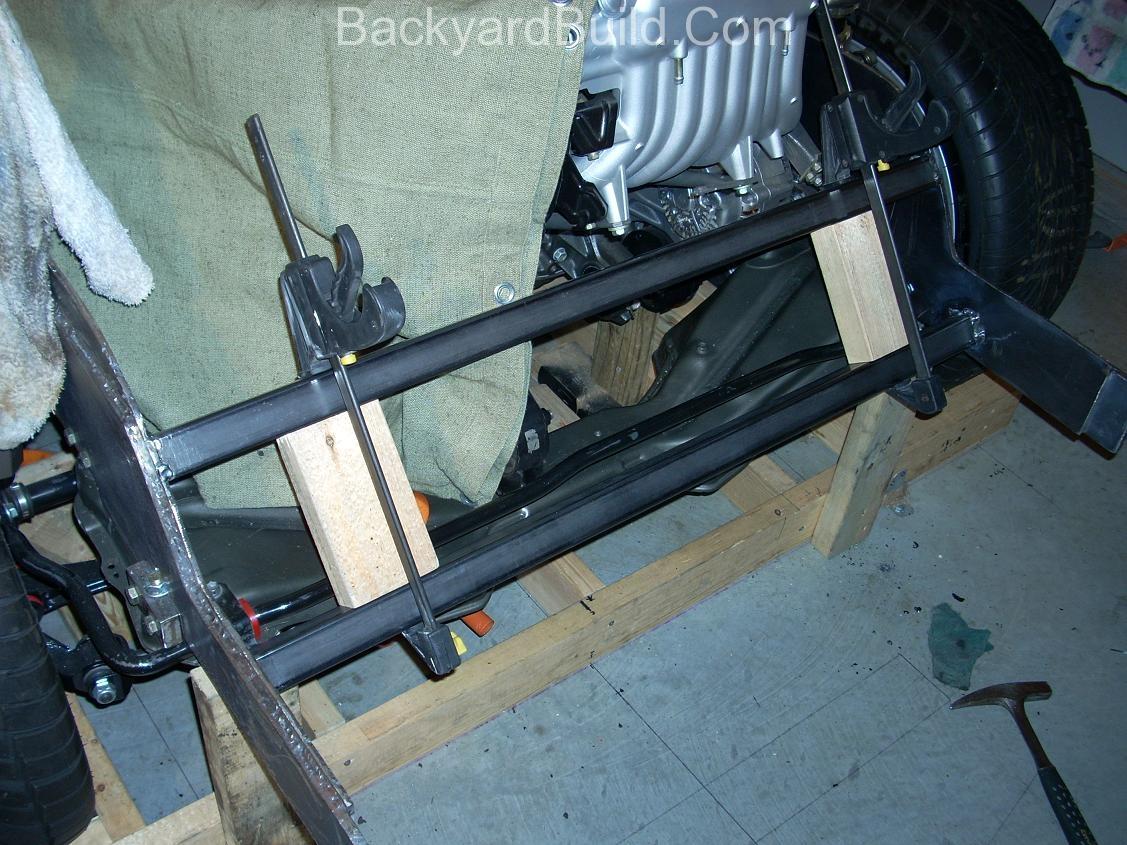Build VW bug MR2 3SGTE rear engine cage bracing 5