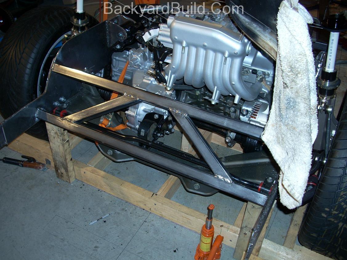Build VW bug MR2 3SGTE rear engine cage bracing 11