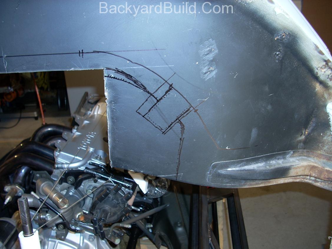 Trim & refit the VW bug body 3