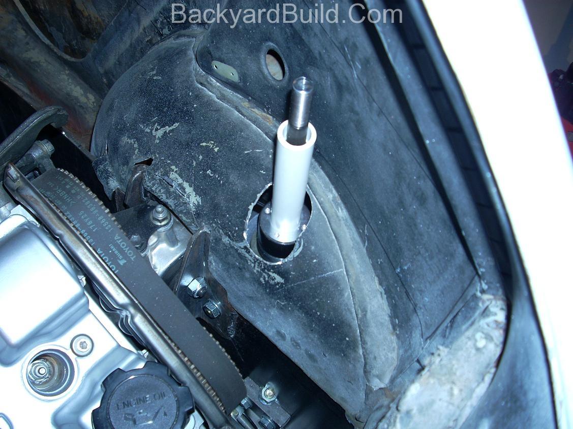 Trim & refit the VW bug body 8