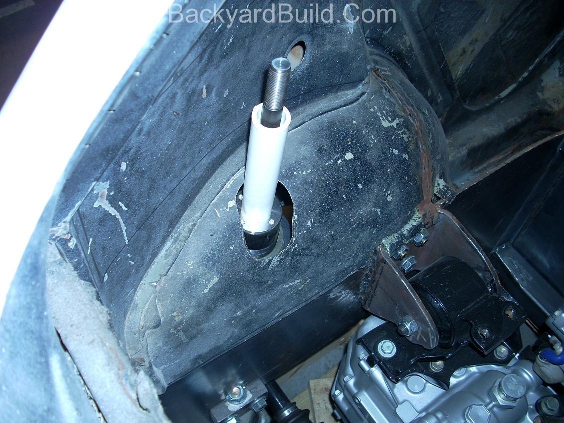 Trim & refit the VW bug body 9
