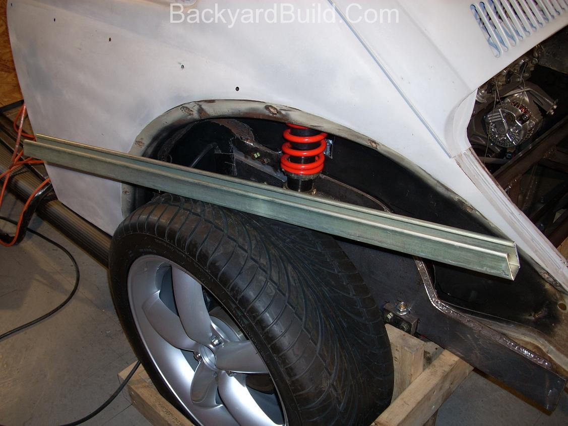 Get the VW bug rear shocks to fit 2