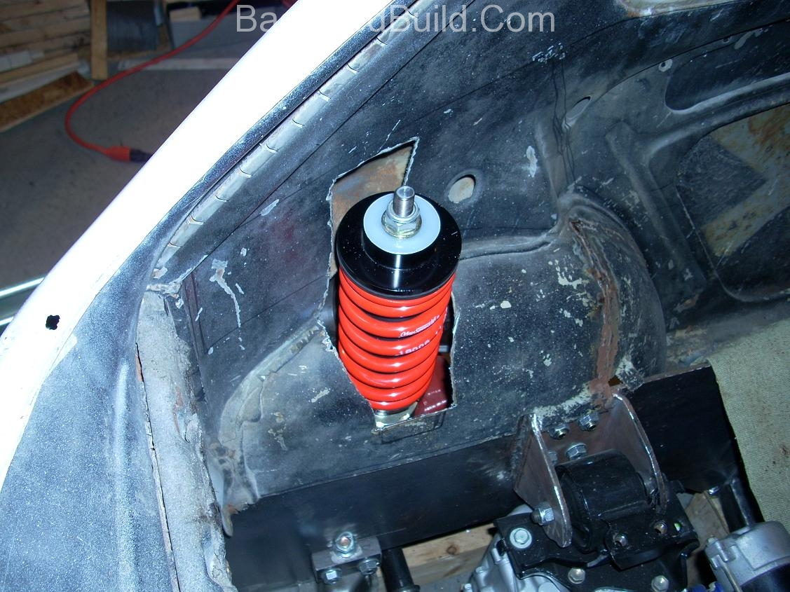 Get the VW bug rear shocks to fit 4