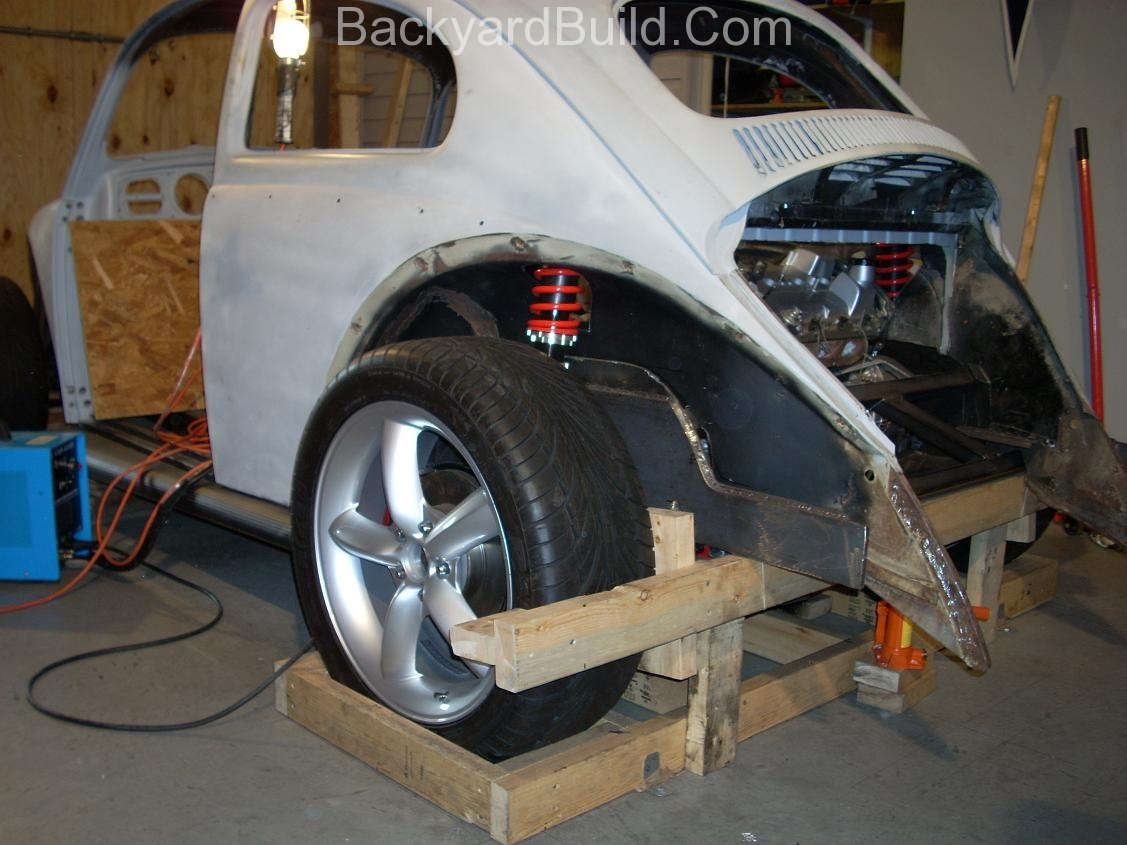 Get the VW bug rear shocks to fit 6