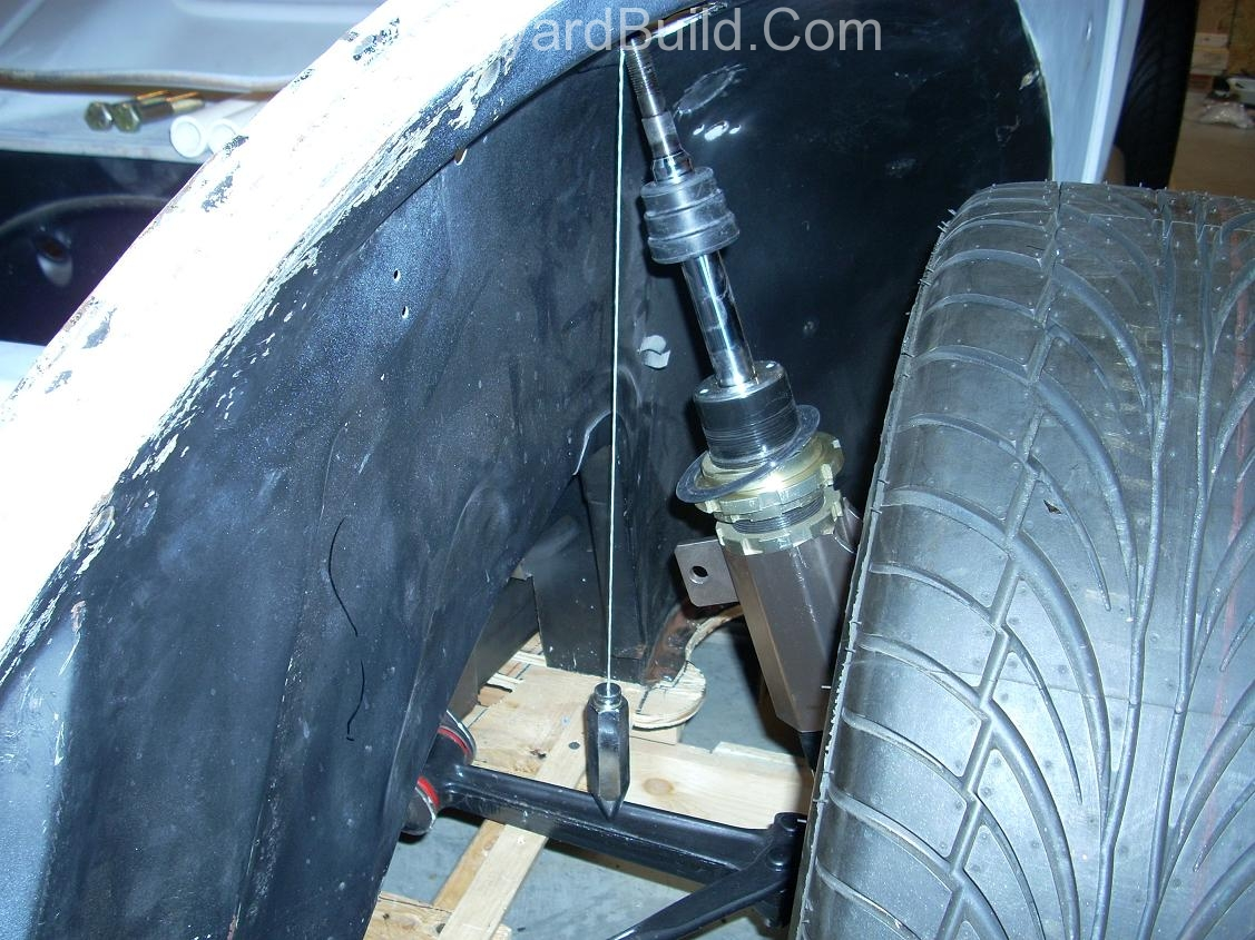 Start to position front suspension 6
