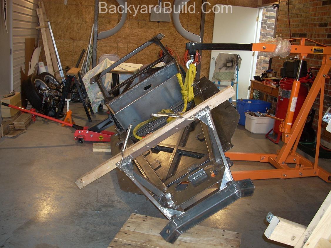 Flip the VW bug MR2 frame over to finish 1