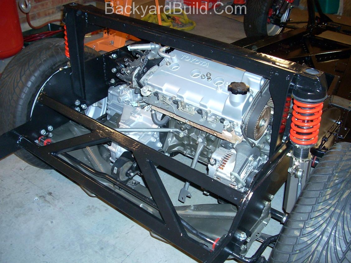 VW bug MR2 engine compartment