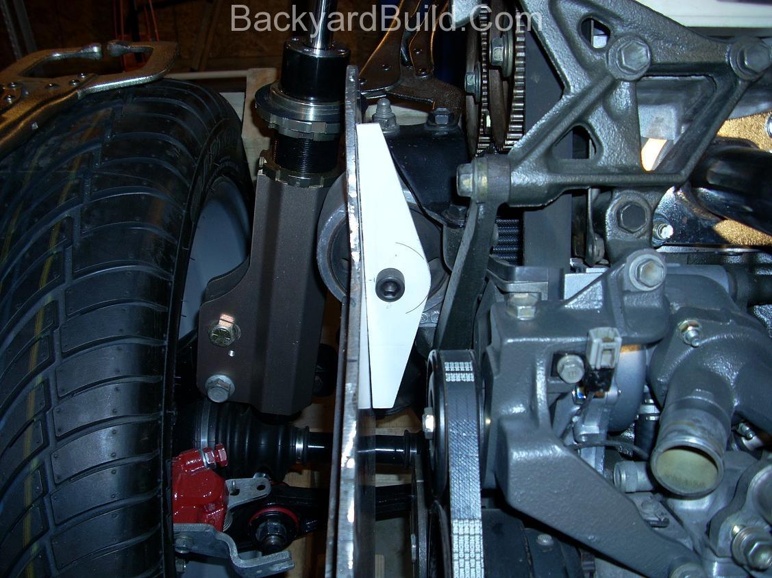 Finish rear passenger side motor mount 9
