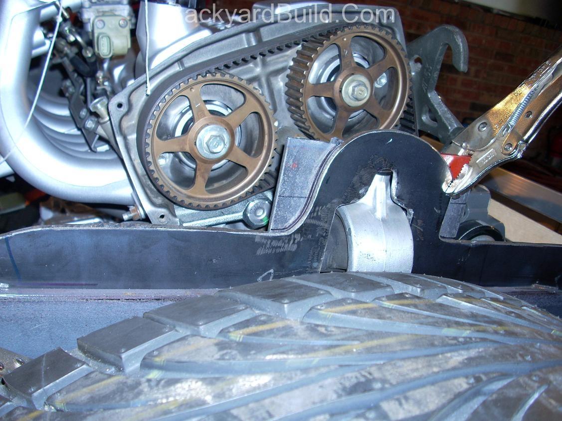 Finish rear passenger side motor mount 8
