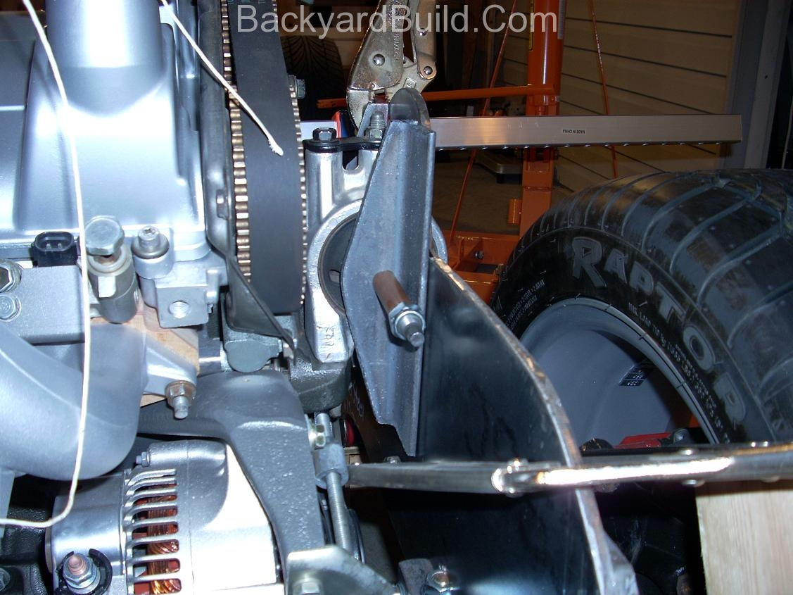 Finish rear passenger side motor mount 7