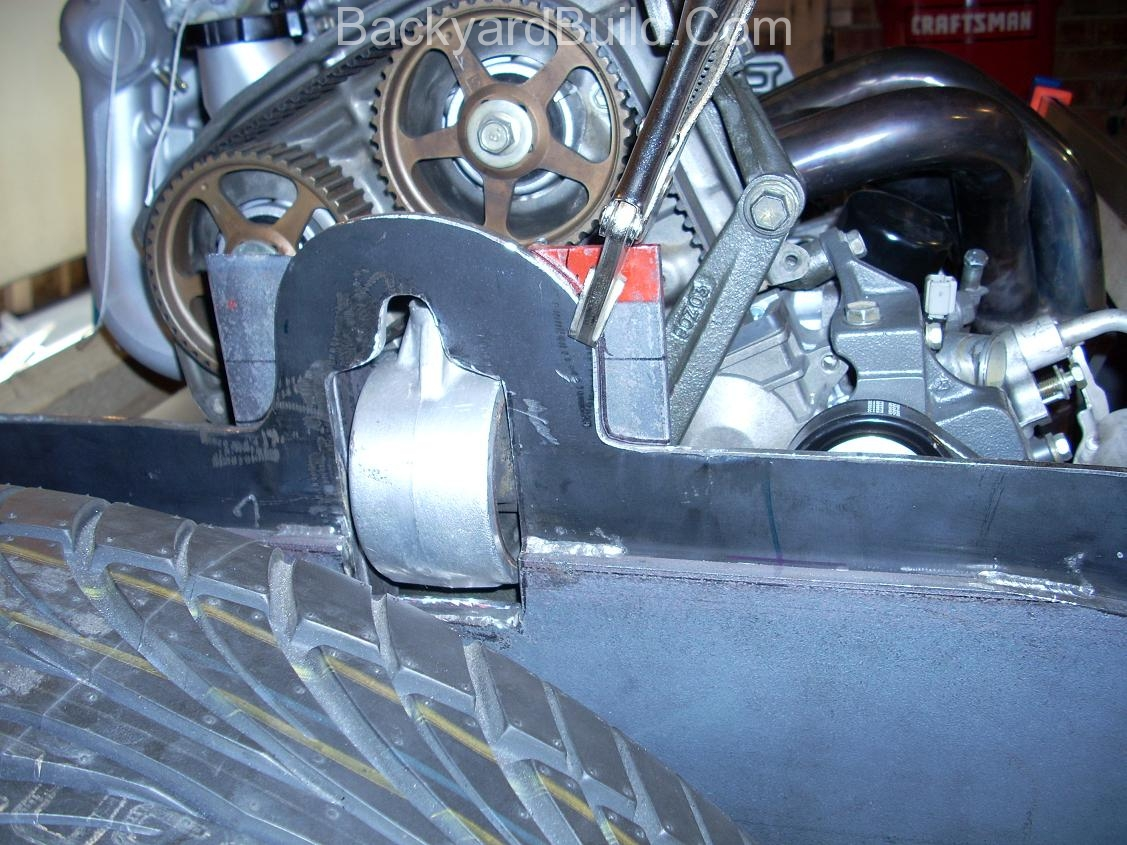 Finish rear passenger side motor mount 5