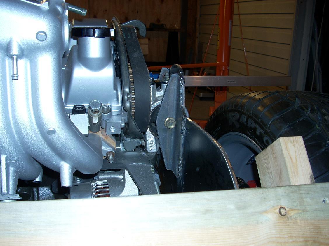Finish rear passenger side motor mount 2