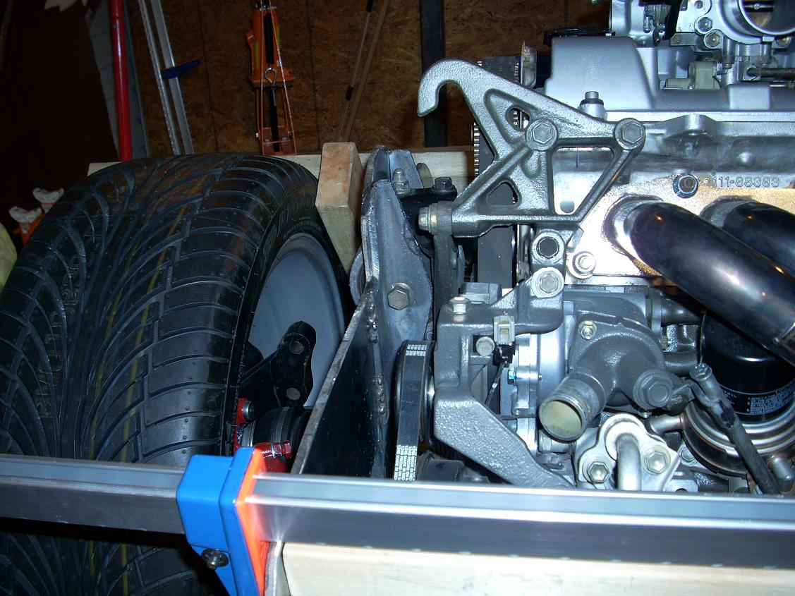 Finish rear passenger side motor mount 1